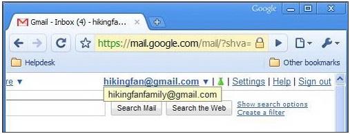 Chọn lựa nhiều tài khoản nhanh trong Gmail